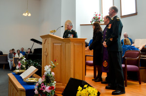 Church Parade 2014 CO Addressing Church Family