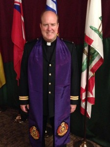 Dr Tom Graduates from CFB Borden Chaplains School