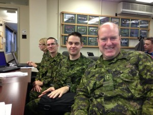 Dr Tom in class at CFB Borden Chaplains School